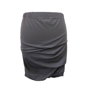 Pure-Couture-pret à porter femme_Créatrice de mode_Jupe jula grise 600x600