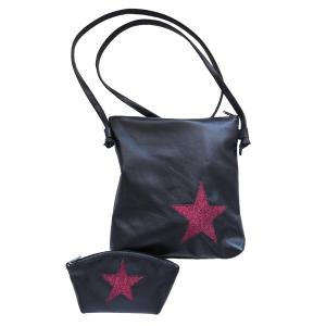 Pure-couture-créatrice-prêt à porter-femme-Ensemble-cuir-noir-prune
