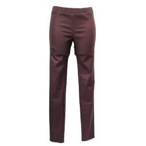 Pure-couture-créatrice-prêt à porter-femme-Pantalon-Slim-enduit-bordeau