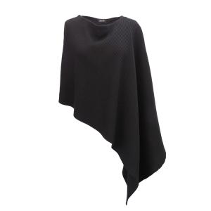Pure-couture-créatrice-prêt à porter-femme-Pull-poncho-noir