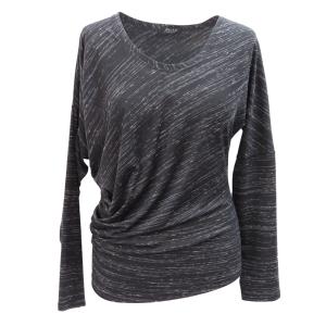 Pure-couture-Créateur-prêt à porter-femme-Tee-shirt-Taka-noir-asymétrique