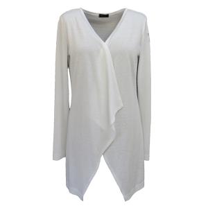 Pure-couture-créatrice-prêt à porter-femme-Gilet-Cascade-Blanc
