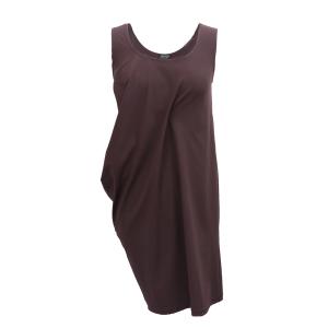 Pure-couture-créatrice-prêt à porter-femme-Robe-deva-marron